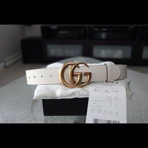 Gucci belt ivory size 85